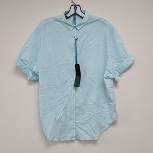 TAGS Light Blue Short Sleeve Button Down Shirt